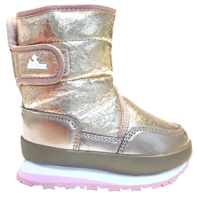 Rubber Duck - Snowjoggers, Cracked Metallic - Rose Gold