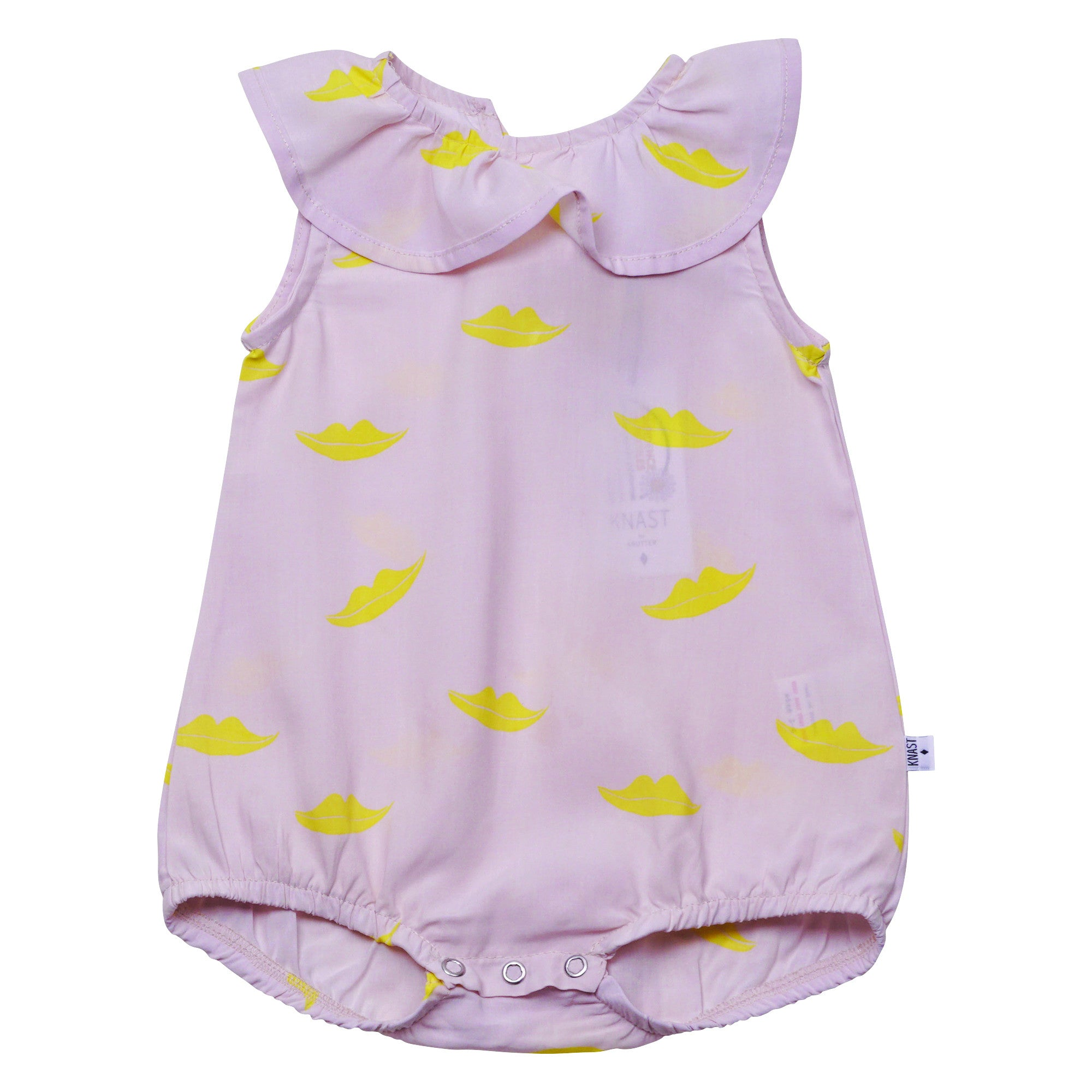 Image of   KNAST by KRUTTER - Clown Sunsuit, Lips - Light Rose