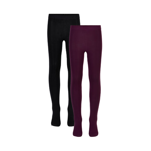 THE NEW - Tights 60 Denier 2-pak (TN3302) - Potent Purple / Black