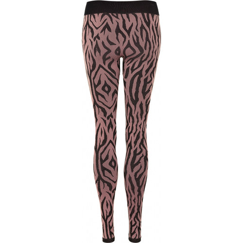 THE NEW Pure - Pure Mezebra Leggings Woman (TNP1093W) - Winetasting / Gold