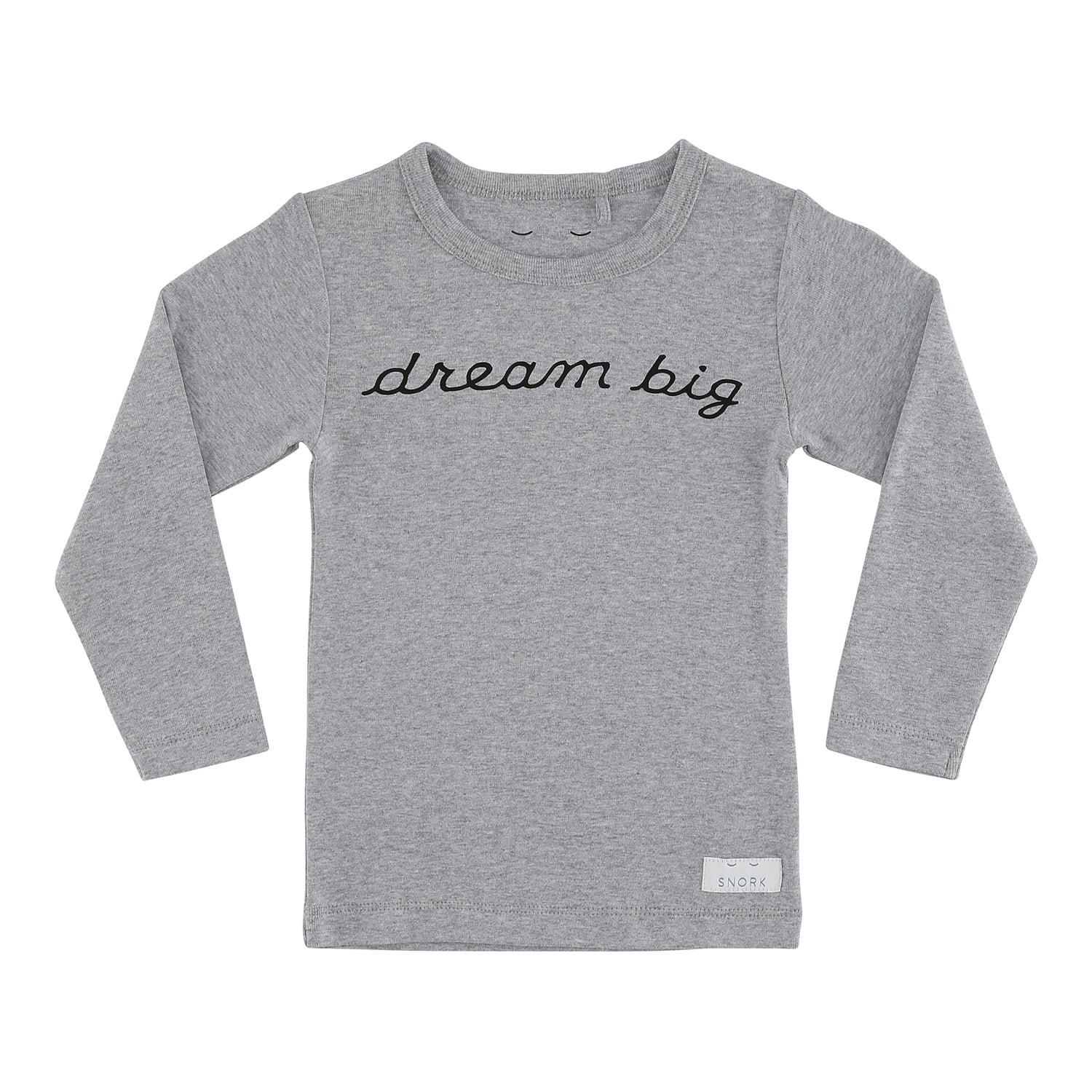 SNORK Copenhagen - Pyjamas, Dream Big - Grey Melange/White