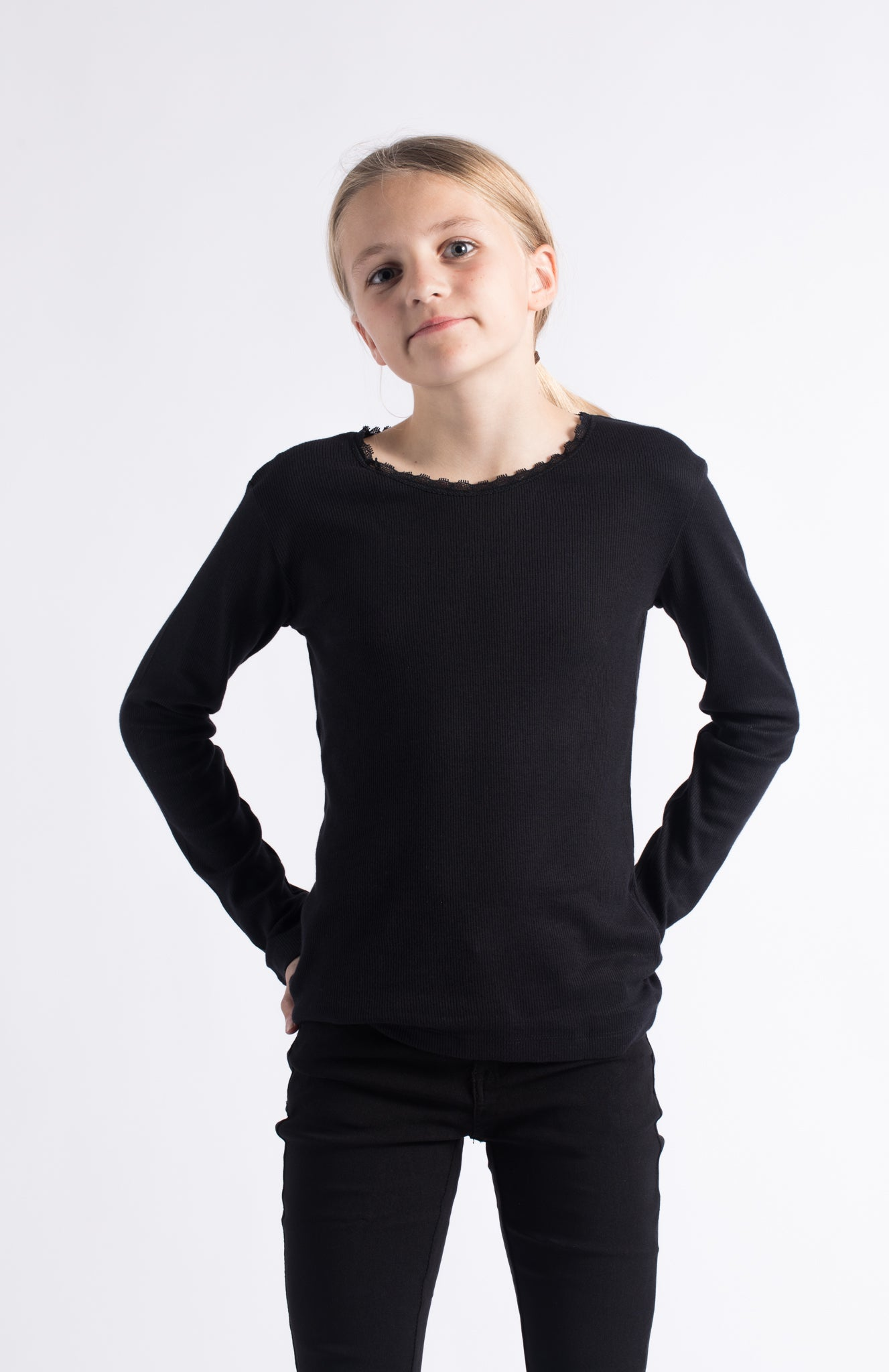 THE NEW - Bluse, Bailey LS (TN1551) - Black