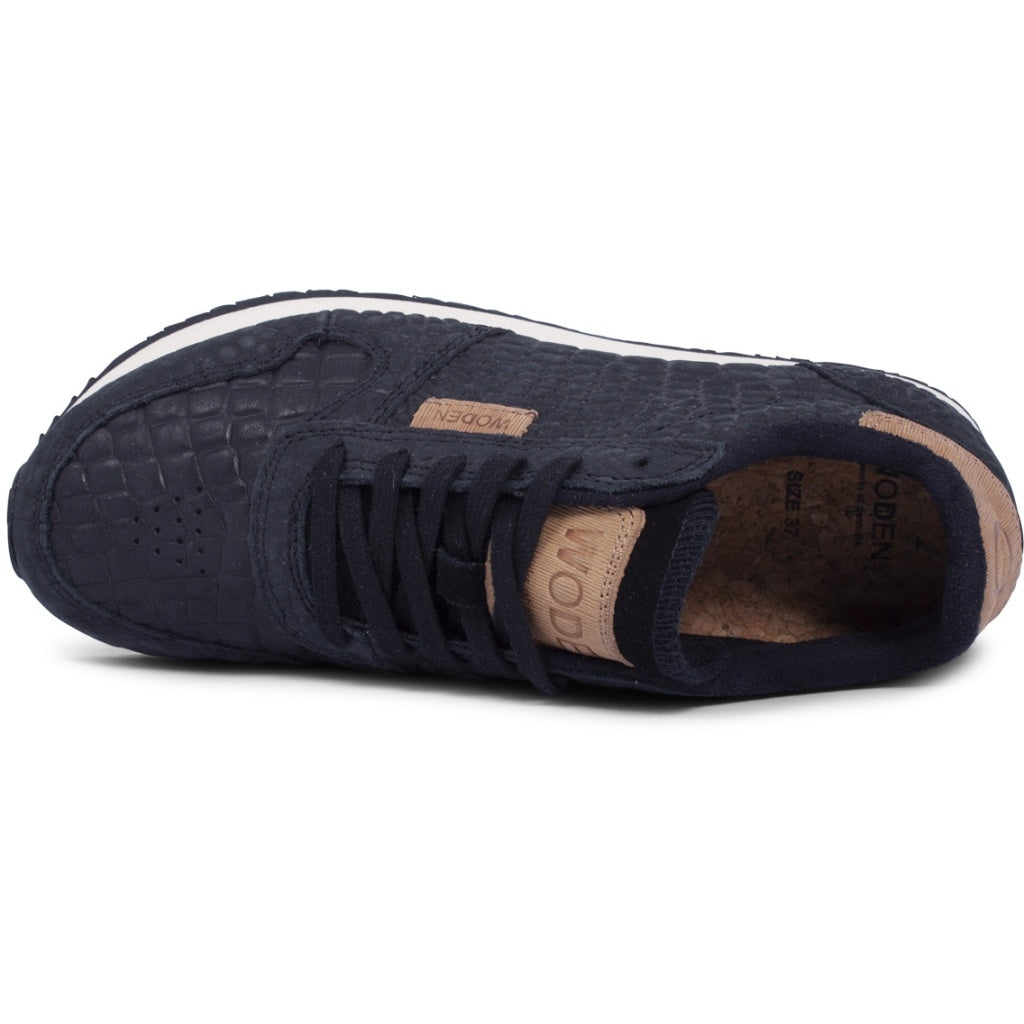 Woden - Sneakers, Ydun Croco - Black
