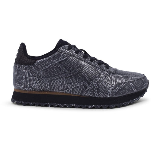 Woden - Sneakers, Ydun Snake - Black Metallic