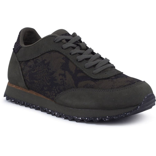 Woden - Sneakers, Nynne Jacquard - Seaweed Green