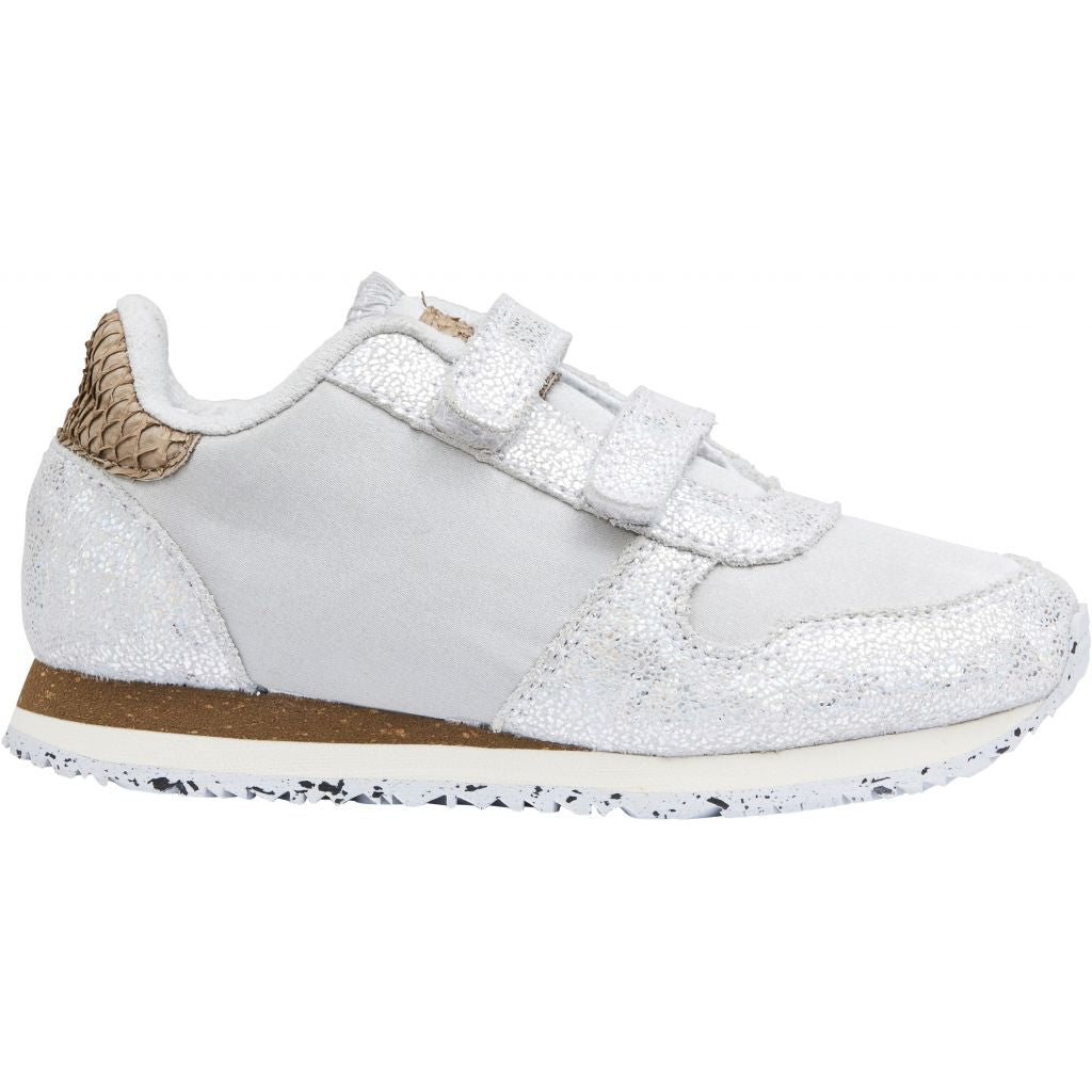 Woden Wonder - Sneakers, Ydun Glitter Kids - Sea Fog Grey