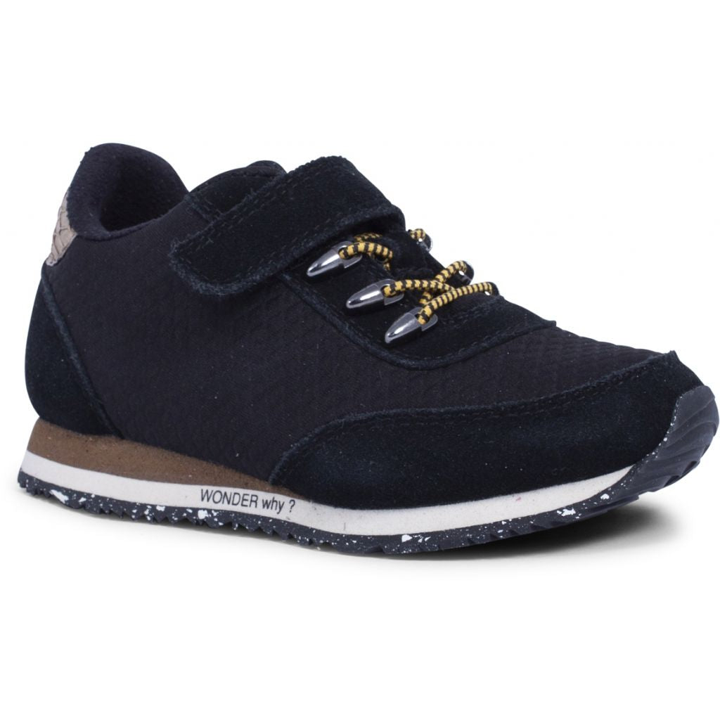 Woden Wonder - Sneakers, Vidar Neopren Kids - Black