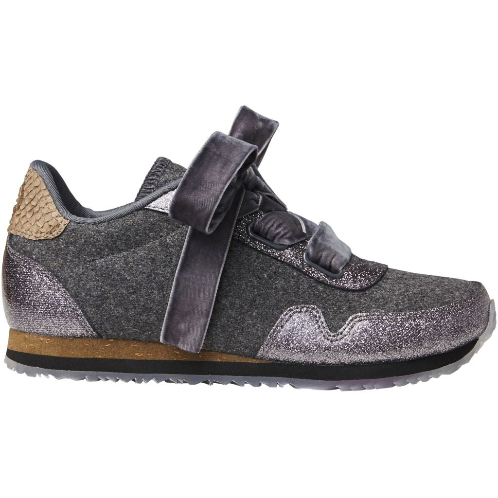 Woden Wonder - Sneakers, Sienna Wool Teen - Grey