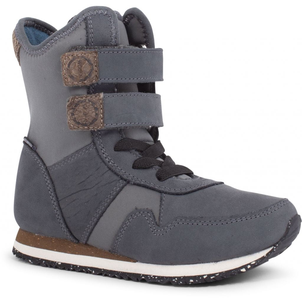 Woden Wonder - Lauge Leather Boot Kids - Dark Shadow
