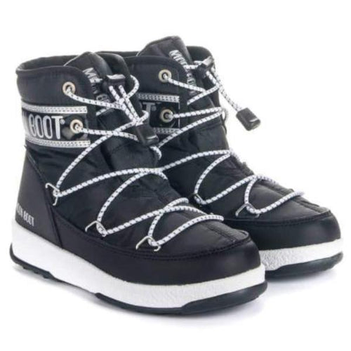 Moon Boot - Vinterstøvler, JR Boy Mid WP - Black / Silver
