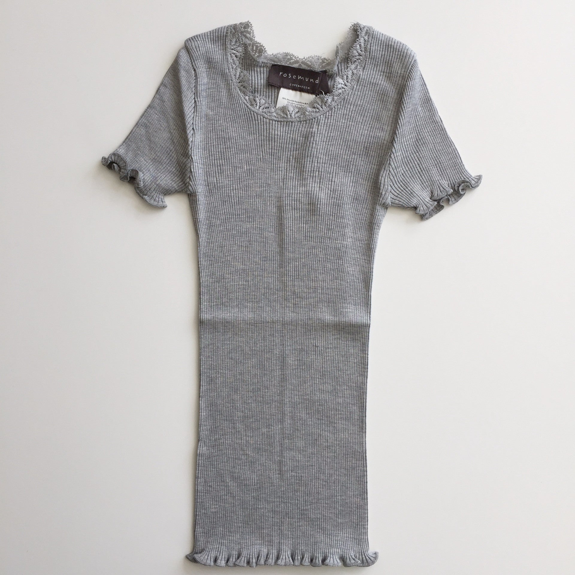 Image of   Rosemunde - T-shirt m. blonde - Light Grey Melange (Basis)