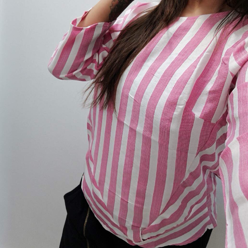 Basic Apparel - Bluse, Vacation Blouse - Off White / Pink