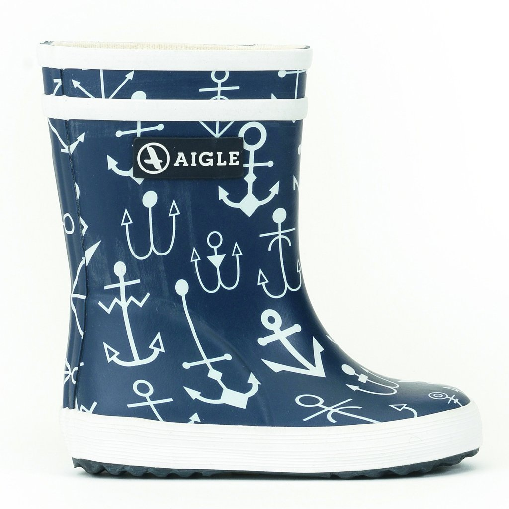 Image of   Aigle - Gummistøvle, Baby Flac - Dark Navy / Anchor