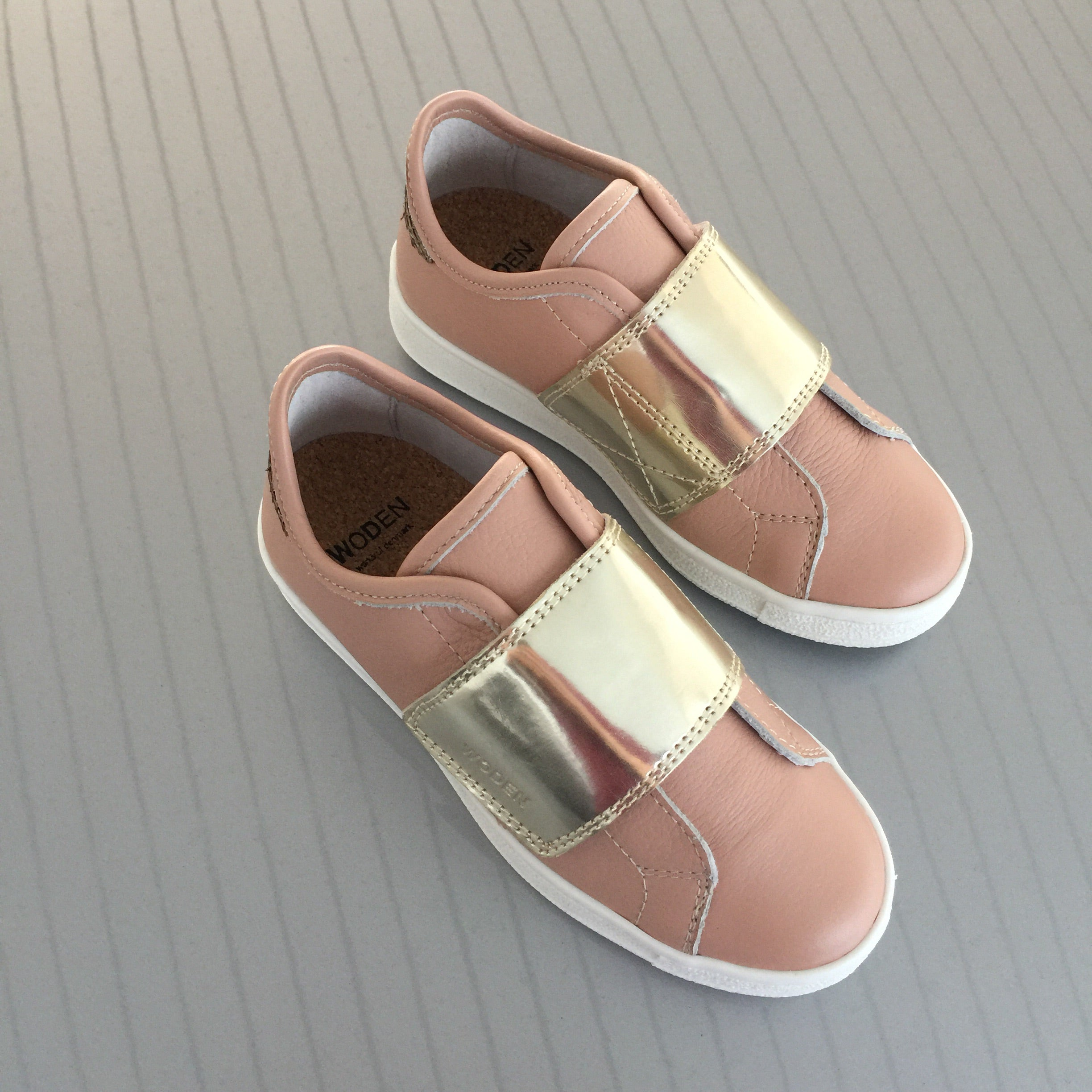 Woden Wonder - Sneakers, Wrap Wonder Metallic Kids - Powder Skies / Champagne
