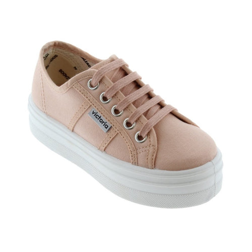 Victoria Shoes - Barcelona Canvas Platforms - Cuarzo
