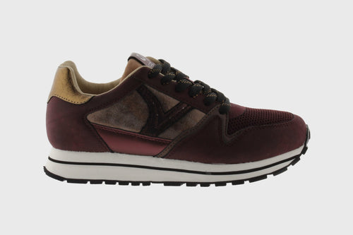 Victoria Shoes - Cometa Monocolor Multimaterial Sneaker - Bordeaux