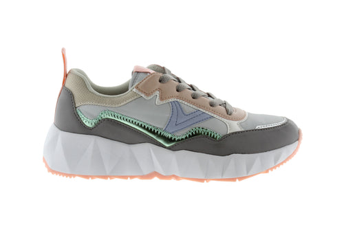 Victoria Shoes - Nylon Multicolour Arista Sneaker - Grey