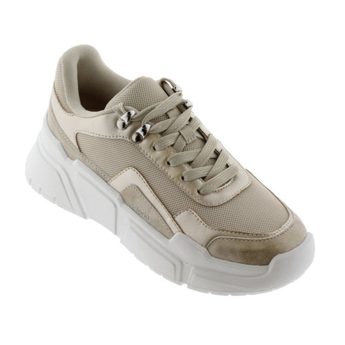 Victoria Shoes - PU / Netted Totem Sneaker - Beige