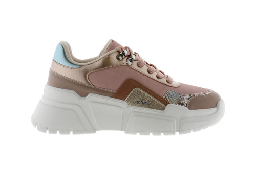 Victoria Shoes - Monochrome Totem Sneaker - Nude / Rose