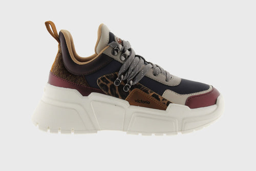 Victoria Shoes - Totem Multicolor Sneaker - Marine / Animal Print