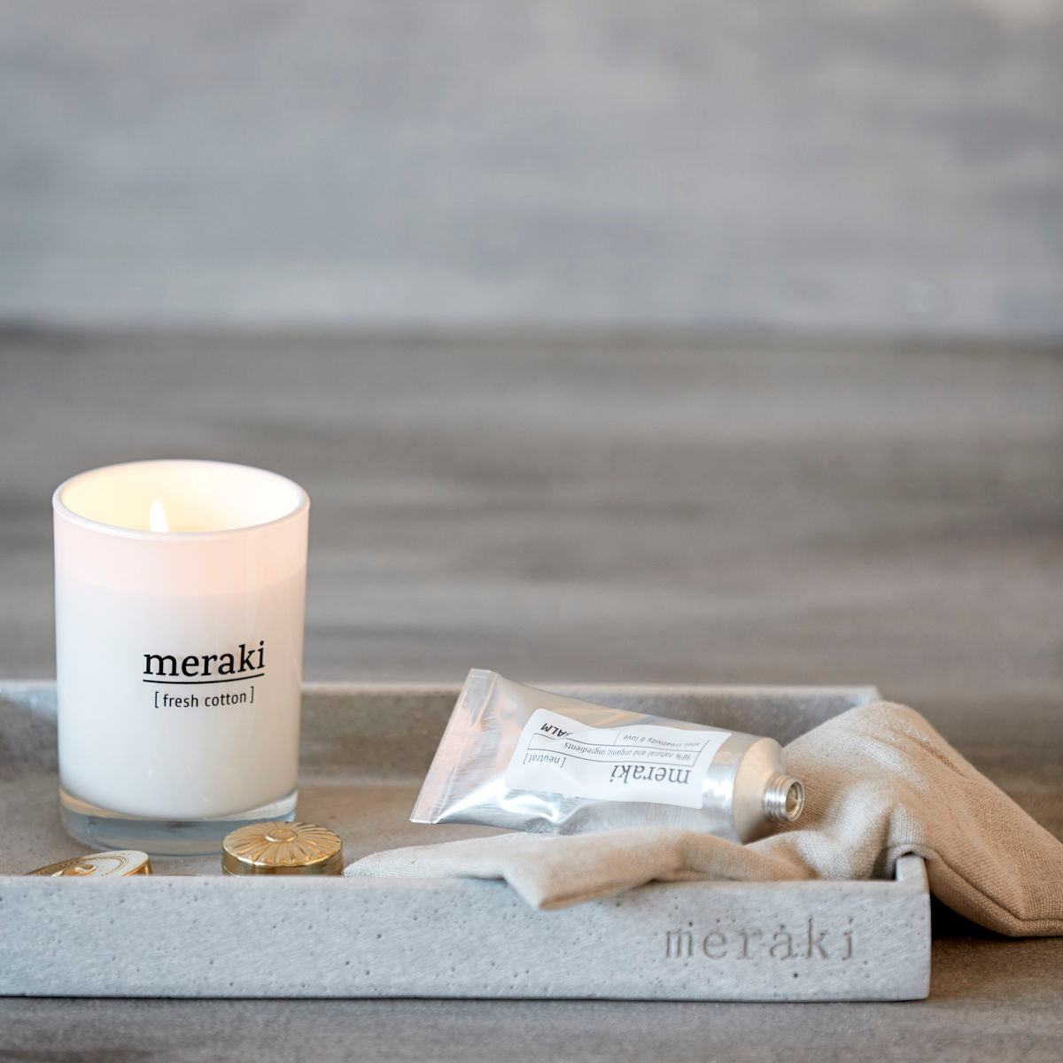 Meraki - Duftlys - Fresh Cotton, small