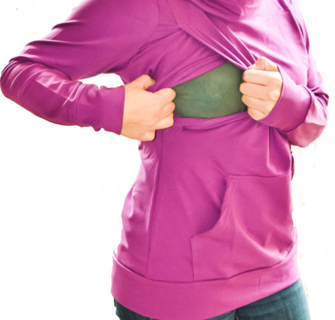 Long Sleeve Nursing Turtleneck-Purple