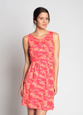 Coral Print Nursing dress