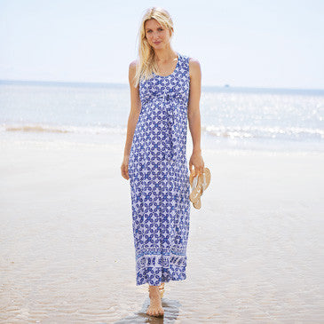 Maxi-Print Nursing Dress