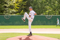 Leo pitching in Cooperstown – Age 12