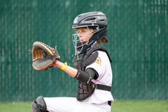 Luca back behind the plate – Age 11