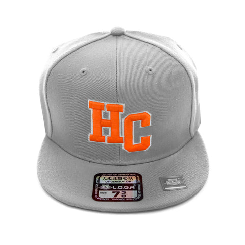 HeadCoach Snapback Baseball Gray Cap Orange Logo
