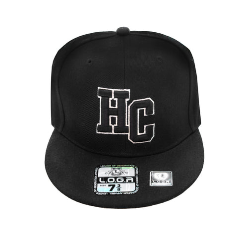 HeadCoach Snapback Baseball Black Cap White Logo