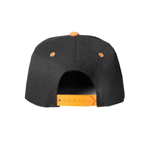 HeadCoach Snapback Baseball Cap Back Side Orange