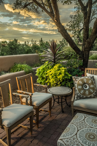 Cozy Outdoor Seating Area at Sunset