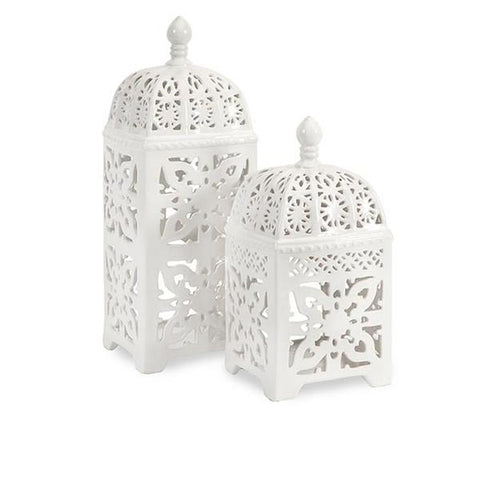 Maya Tea Light Lantern White