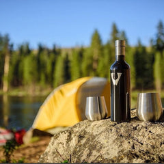 Vinotrek Stainless Steel Wine Glasses and Growler