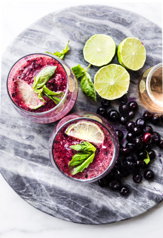 Triple Berry Wine Slushies