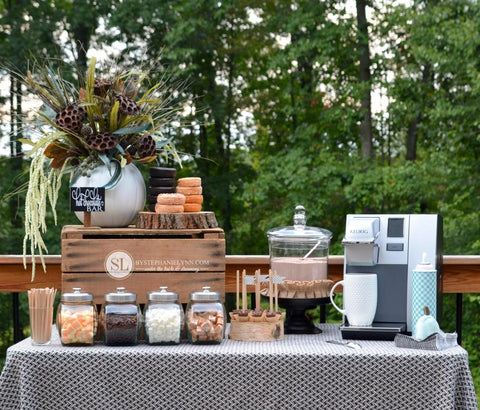 Decadent Hot Chocolate Bar for Fall Parties by Stephanie Lynn
