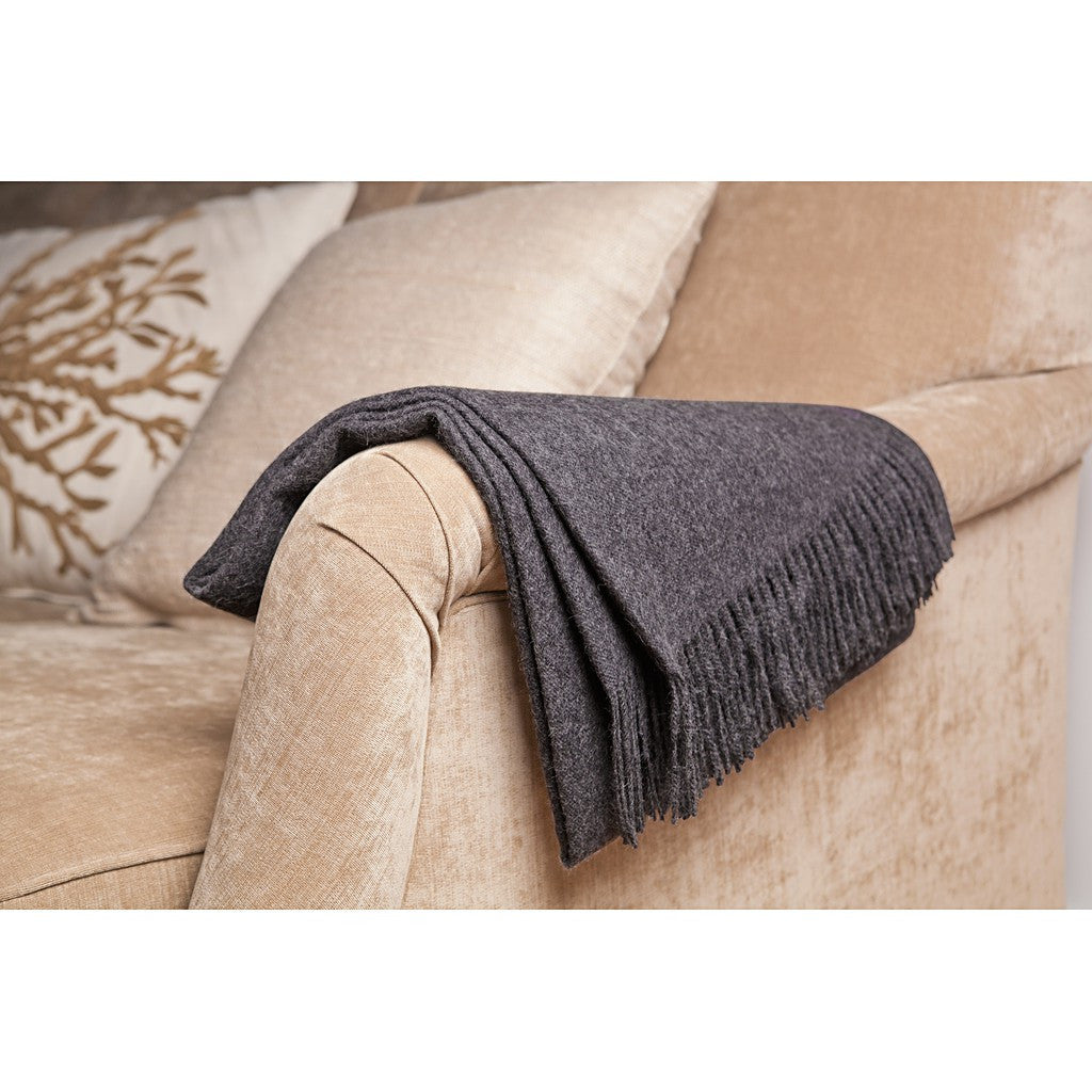 Winterfiber Carbon Baby Alpaca Throw