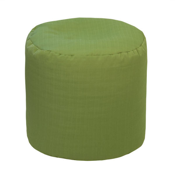 Outdoor Ottoman or Poof Solid Verde Green