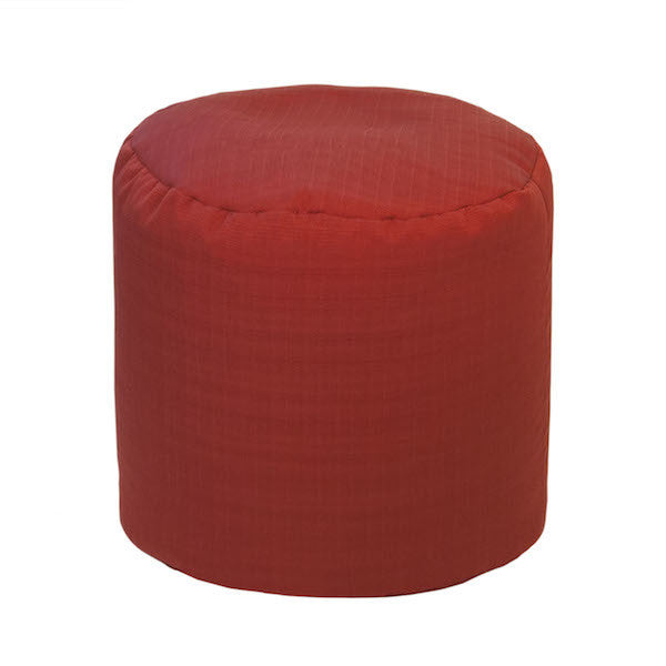 Outdoor Ottoman or Poof Solid Chili Red