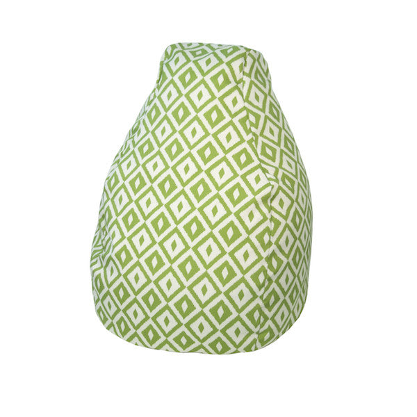 Outdoor Bean Bag Aztec Pattern in Verde Green