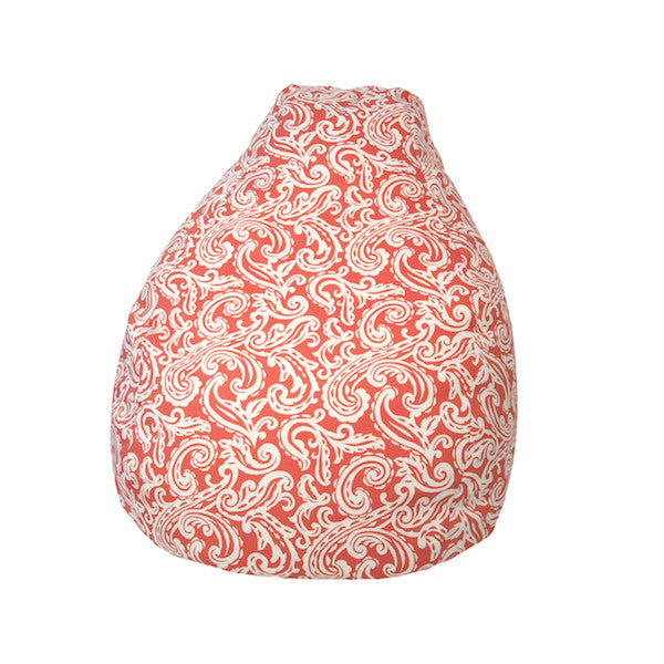 Outdoor Bean Bag Colima Pattern in Coral