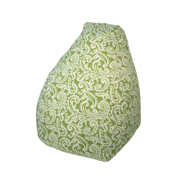 Outdoor Bean Bag Colima Pattern in Verde Green