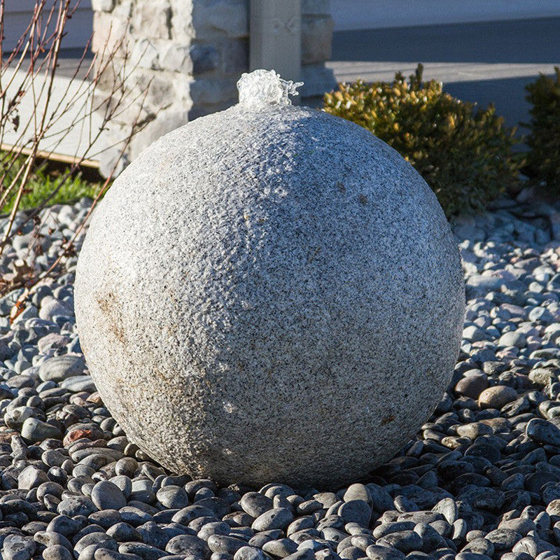 "24"" Achelous Granite Sphere Fountain Kit"