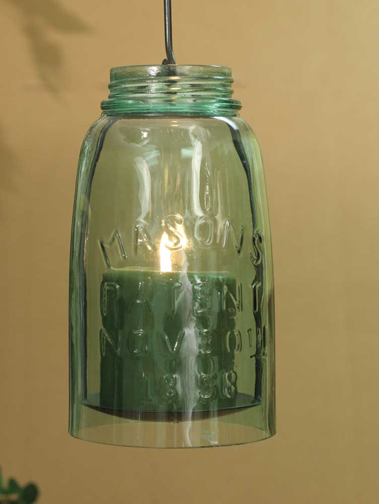 Hanging Mason Jar Pillar Holder - Half Gallon
