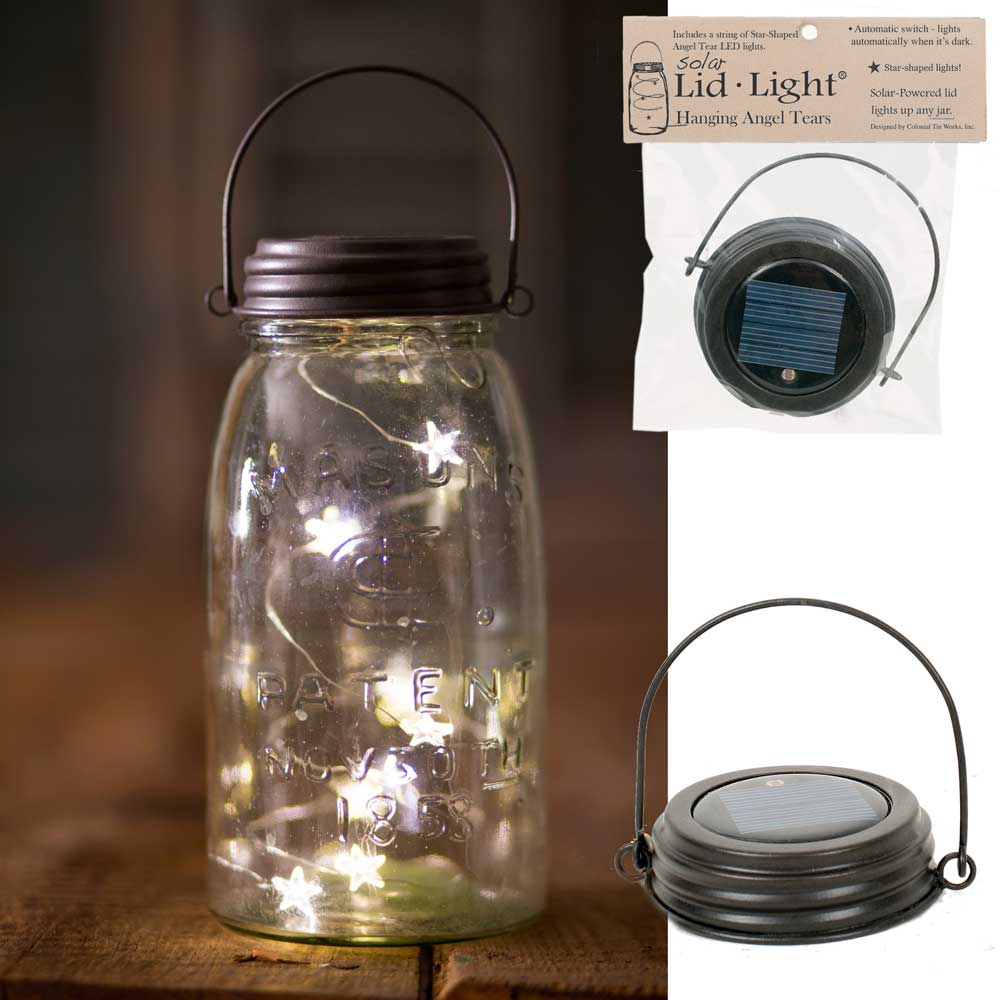 Hanging Solar Lid-Light - Star Shape Angel Tears | Set of 4 Lids