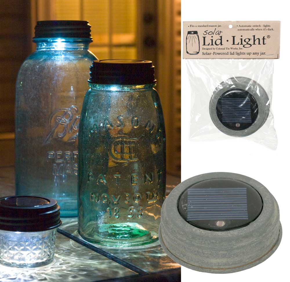 Solar Lid-Light – Barn Roof  | Set of 4 Lids