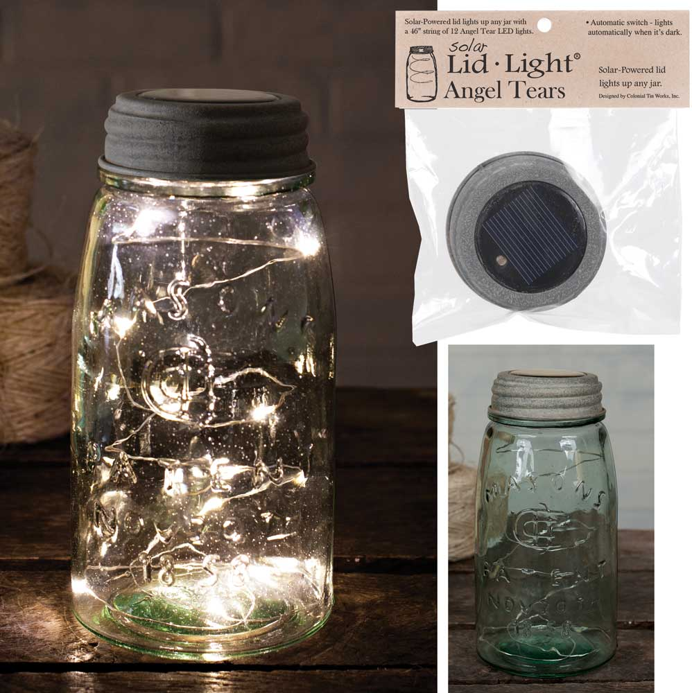 Solar Lid-Light - Barn Roof - Angel Tears | Set of 4 Lids