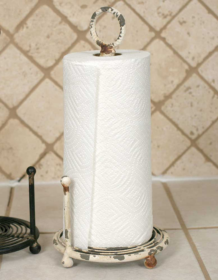 Provincial Paper Towel Holder - Antique White